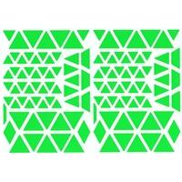 120 Triangles Autocollants Vert