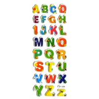 alphabet lettres pedagogique colore gommette autocollant sticker adhesif JF1208