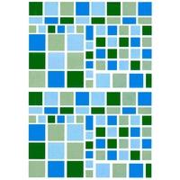 122 Gommettes Mosaique Bleu-Vert