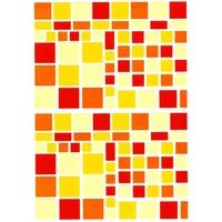 122 Gommettes Mosaique Couleurs Estivales