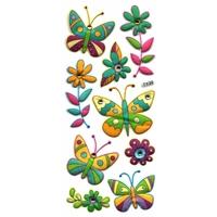 Gommettes 3D Papillons avec Strass