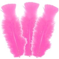 10 plumes d'oie 5 à 10cm ROSE