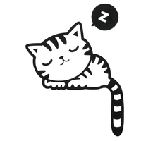 sticker interrupteur chat detail