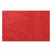 Feuille mousse EVA Paillettes A4 2 mm Rouge