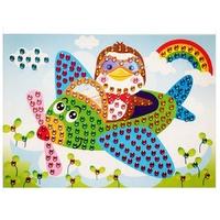 Puzzle Mosaique Cristal 19x26cm Aviateur