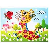 Mosaique Cristal 19x26cm Bébé Girafe