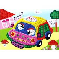 Puzzle Mosaique Autocollant 21x24cm Taxi