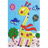 ¨Puzzle Mosaique Paillette et Bijoux 21x24cm Girafe
