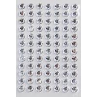"84 strass cristal autocollants 6mm ""Diamant"""