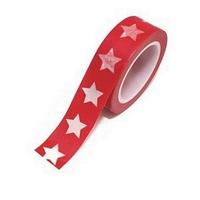 Masking Tape Noel Etoiles Rouge 10m x 15mm