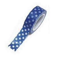 Washi Tape Noel Bleu Petites Etoiles 10m x 15mm