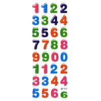 chiffres couleurs pedagogie apprendre à compter enfant gommette autocollante sticker adhesif rigide  JF1212