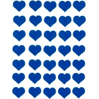 35 gommettes coeur bleu 2,5cm