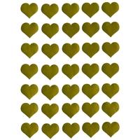35 gommettes coeurs dorés 2,5cm