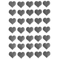 35 gommette coeur argent 2,5cm