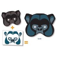 Masque à décorer Gommettes Gorille