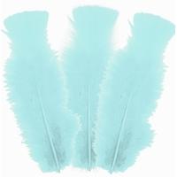 10 plumes d'oie 5cm à 10cm, bleu clair
