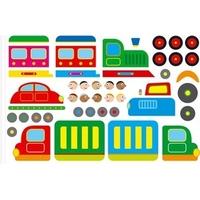 Kit 40 Gommettes train et Camions