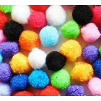 40 pompons à coller multicolores,diamètre 23 mm