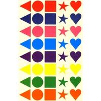 40 Gommettes multicolores géométriques mates 25mm