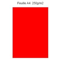 Feuille papier épais A4 rouge
