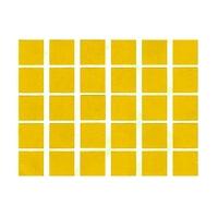30 gommettes carré jaune 2x2xm
