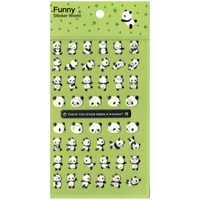 Stickers Cute Panda 10 x15cm