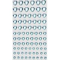 84 strass cristal coeurs bleu