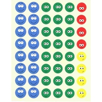 48 gommettes Smiley Ecole