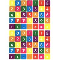 70 gommettes chiffres  repositionnables