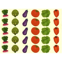 Gommettes légumes de printemps