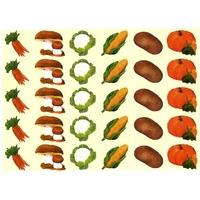 30 gommettes légumes d'automne