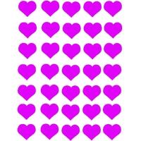 35 gommettes coeur rose