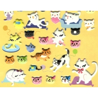 Stickers petits chats detail