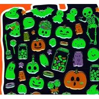 64 stickers halloween qui brillent dans le noir!