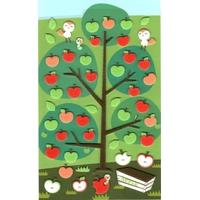 48 stickers feutrine Pommes