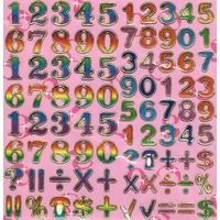 240 gommettes chiffres et maths
