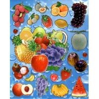Gommettes Fruits d'été et Exotiques