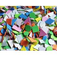 Lot 250 gommettes géométriques en mousse autocollante
