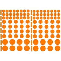 104 gommettes tailles variées orange
