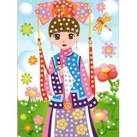 Mosaique Puzzle Strass Princesse Geisha