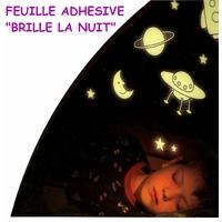 """Feuille Phosphorescente """"Brille Dans la Nuit"""""""