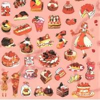 52 gommettes fraises et délices patissiers