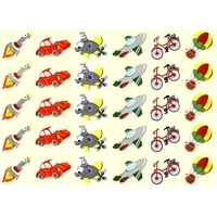 30 gommettes Tracteurs et Motos