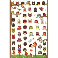 54 adorables petits stickers chouettes