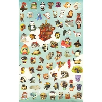 68 petits stickers Animaux à Grands Yeux