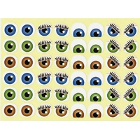 48 yeux autocollants expressifs