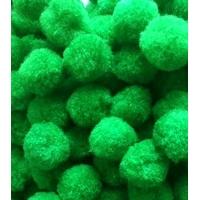 21 Pompons verts pour bricolage