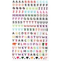 200 Gommettes Petit Alphabet 3D