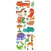 20 Gommettes Animaux du Zoo en 3D